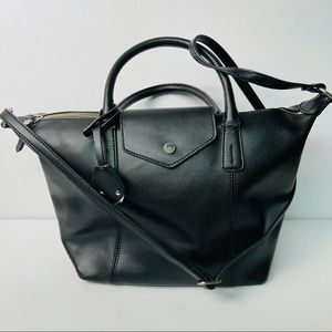 Emma & Sophia black leather crossbody bag